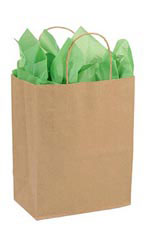 Medium Recycled Kraft Paper Shopper