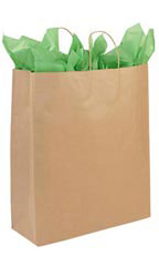 Jumbo Recycled Kraft Paper Shopper