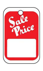Unstrung Red & White Sales Tags