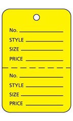 Yellow Unstrung Large Coupon Price Tags