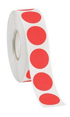 Fluorescent Red Self-Adhesive Labels
