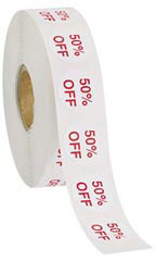 50% Off Self-Adhesive Discount Labels