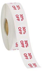 30% Off Self-Adhesive Discount Label