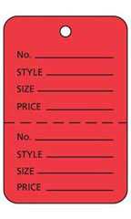 Red Unstrung Large Coupon Price Tag