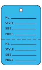 Blue Unstrung Large Coupon Price Tags