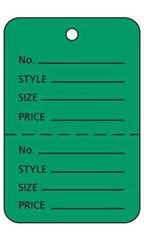 Green Unstrung Large Coupon Price Tag