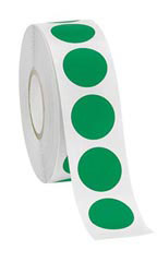 Green Self-Adhesive Colored Label