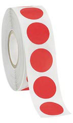 www.store supply.com: Red Self-Adhesive Labels