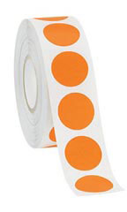 Orange Self-Adhesive Colored Label