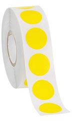Yellow Self-Adhesive Colored Label