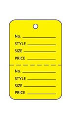 Yellow Unstrung Small Coupon Price Tag