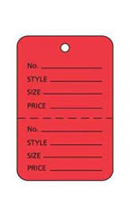 Red Unstrung Small Coupon Price Tag