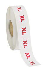 Self-Adhesive Round Size Labels Size XL