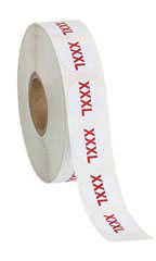 Self-Adhesive Size XXXL Labels