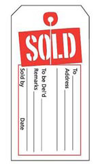 Red/White Sold Slit Price Tags