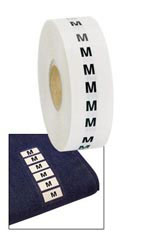 """M"" Wrap Around Size Labels"