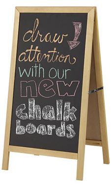 a frame chalkboard sign wood