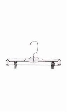 Plastic Pants & Skirt Hangers with Metal Clips