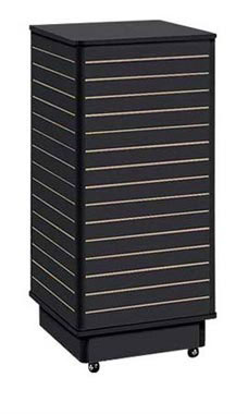 Slatwall Tower with Rolling Base- Black