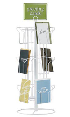 White 12 Pocket Greeting Card Rack