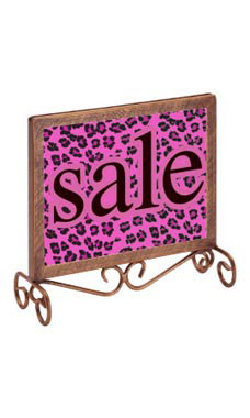 Countertop Boutique Sign Holder - Cobblestone