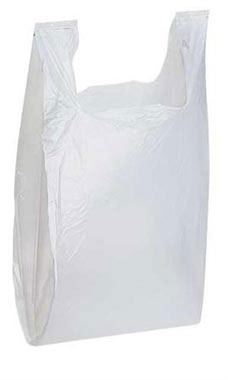 White Plastic T-Shirt Shopping Bags - Medium | Store Supply