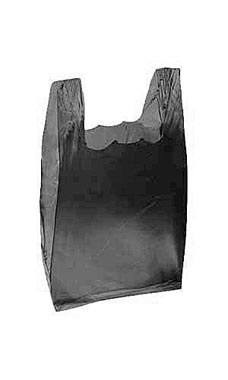Black Wholesale Plastic T-Shirt Shopping Bags - Small | Store Supply