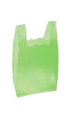 Lime Green Wholesale Plastic T Shirt Shopping Bags Small
