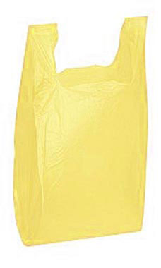 Yellow Wholesale Plastic T Shirt Shopping Bags Medium