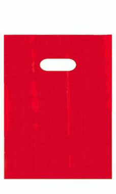 Small Red Low-Density Wholesale Plastic Merchandise Bags | SSW