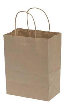 Natural 8 x 4.75 x 10.25 Wholesale Kraft Paper Bags - 250 Case | SSW