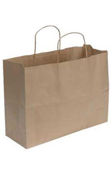 Wholesale Large Natural Kraft Shopping Bags