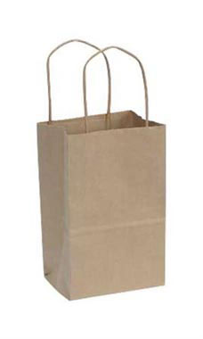 Small Natural Kraft Paper Shopping Bags