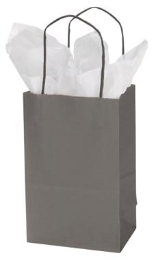 Small Storm Grey Wholesale Paper Shopping Bags | Store Supply