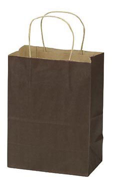 Medium Wholesale Dark Brown Paper Shopping Bags | Store Supply