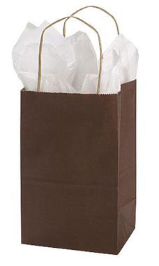 Small Wholesale Dark Brown Paper Shopping Bags | Store Supply