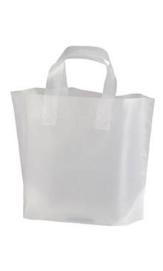 Wholesale Plastic Shopping Bags | Small Frosted Recycled ...